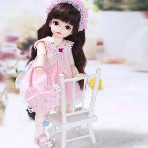 Image 4 - Имбирные куклы Miadoll BJD SD, модель тела 1/6, полный комплект с волосами, одежда, обувь, аксессуары, шарнирная кукла