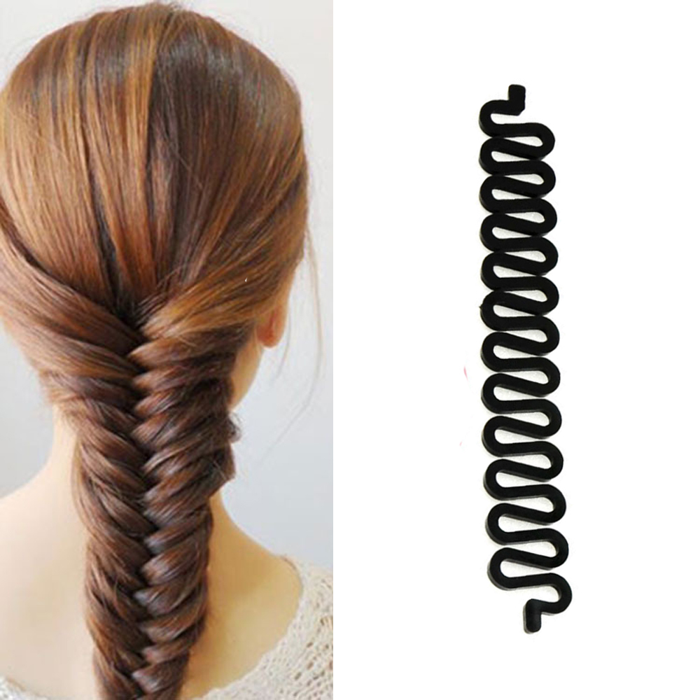 Fashion Fish Bond Waves Braider Tool Roller With Hair Twist Styling Black Bun Maker Magic Hair Braiding