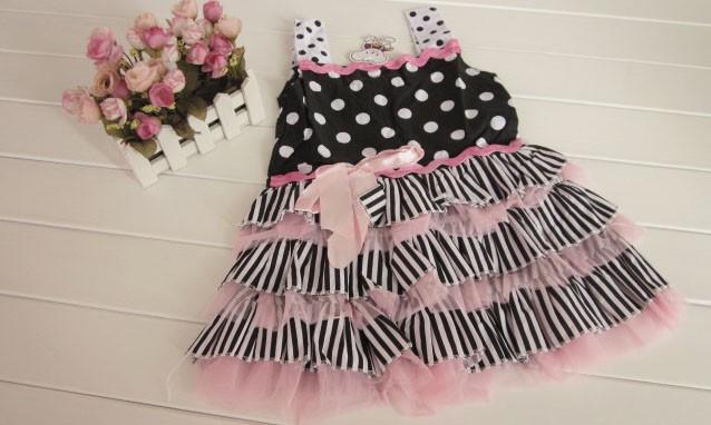 104 # высокое качество девочка платье ребенка торт платье оптовая 3 шт./лот
