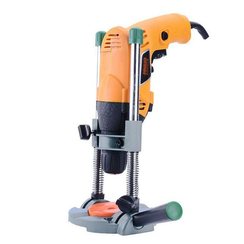 HLZS-Precision Drill Guide Pipe Drill Holder Stand Drilling Guide With Adjustable Angle And Removable Handle DIY Tool