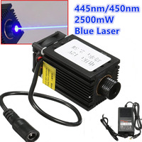 2.5w high power 450NM focusing blue laser module laser engraving and cutting TTL module 2500mw laser tube