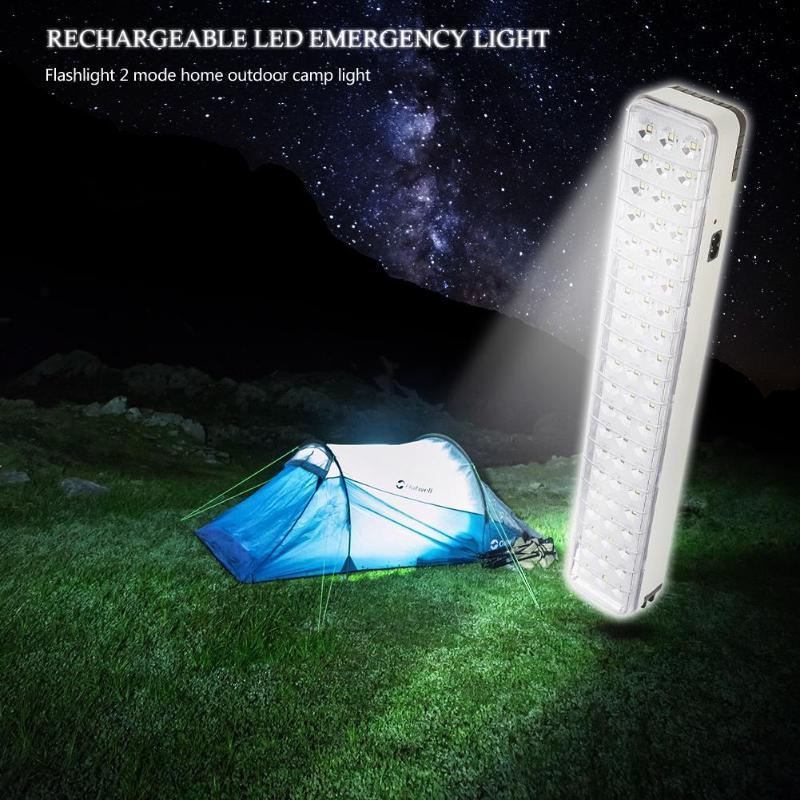 30/60Leds Rechargeable Light Camping LED Emergency Light Flashlight 2-Mode Home White Light Outdoor Indicate Solar Lamp