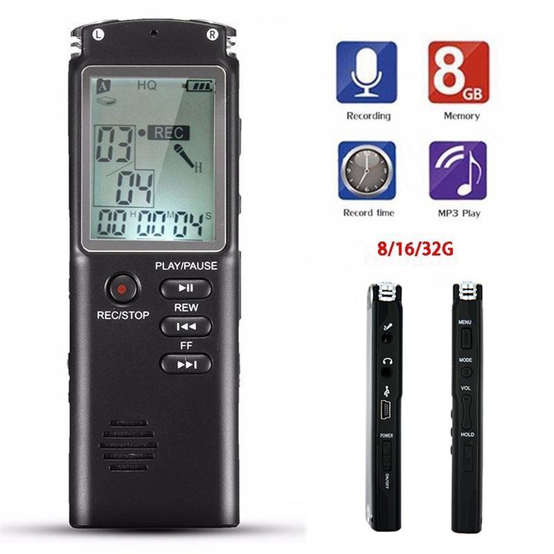 8G/16G/32G Rechargeable Recording Pen VAR/VOR System Digital Audio Voice Recorder Dictaphone Telephone MP3 Player