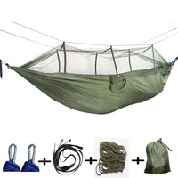 Hammock Swing Garden Double Adult Sleeping Mosquito Camping Net 2 Person Hammock Hanging Chair Nylon Tent Patio Furniture