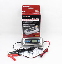 Foxsur 12v 4a 6v 1a 11-stage Smart Battery Charger, Toy & Car Agm Gel Wet Efb Battery Charger, Lcd Intelligent Battery Charger(China)