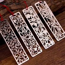 EZONE Metal Hollow Bookmarks Vintage Creative Bookmark With Chinese Knot Multifunctional Stationery Material Students Gifts