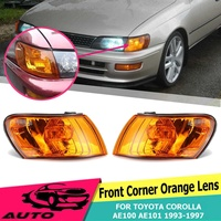 1 Pair Front Signal Coner Light No Bulb Amber Lens Glass Lamp For Toyota Corolla AE100 AE101 E100 1993 1994 1995 1996 1997