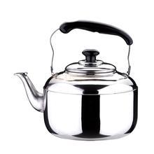 Премиум чайник со свистком из нержавеющей стали, газовая электрическая индукционная плита, чайник для воды, Кемпинговый чайник