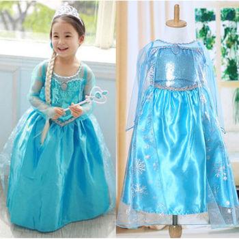 e4a5b9ff7 Vestido de fiesta de Halloween de chica de fantasía princesa Anna Elsa ropa  de Cosplay disfraz de niños niñas vestido de juego de rol fantasia Rupa ...