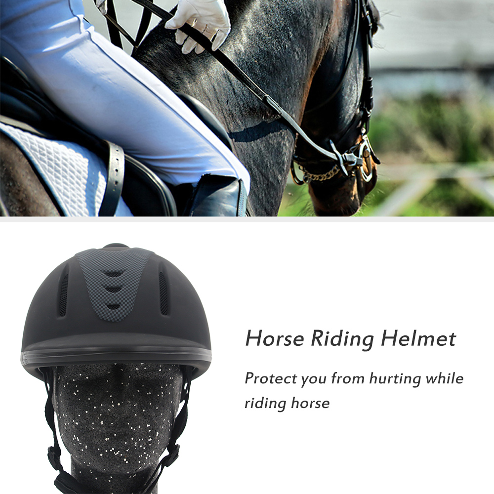 Professional Horse Riding Helmet Adjustable Size Half Face Cover Protective Headgear Secure Equipment For Questrian Riders