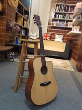 Finlay 41 Acoustic  Guitar,Solid Spruce Top/Mahogany body,guitars china With Hard case,Rhythm guitar