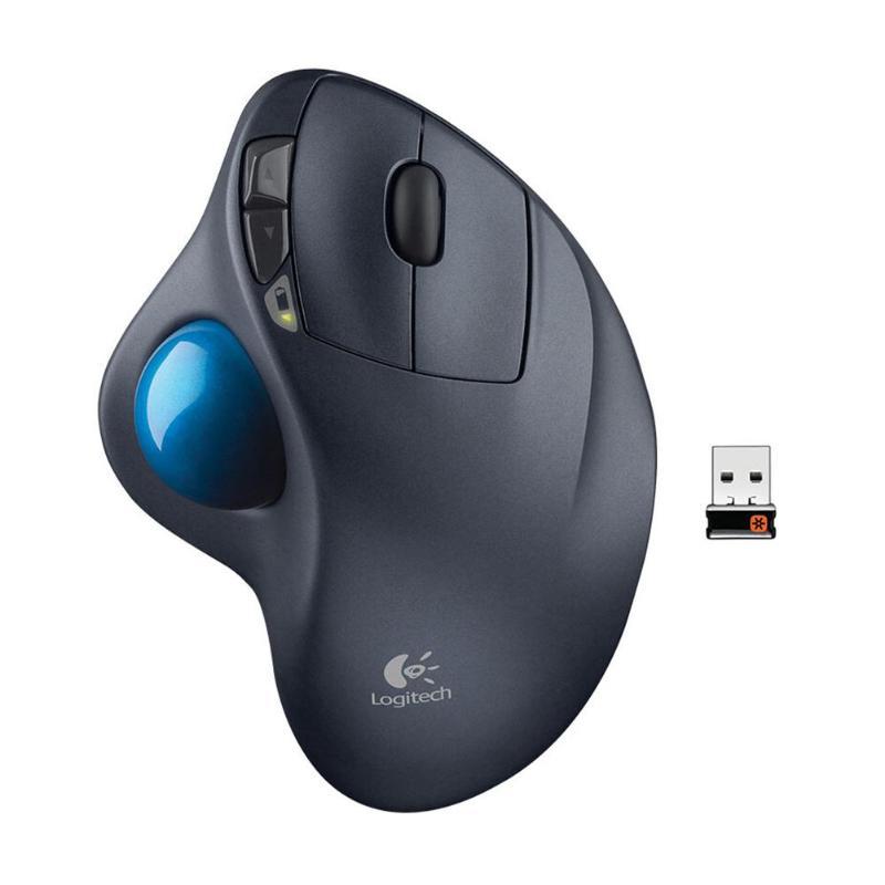 Logitech M570 2.4 GHz 540 DPI Sans Fil Trackball Souris Dessin Professionnel Ergonomique Souris pour pc de bureau portable Ordinateur
