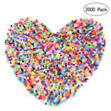 купить 2000pcs 10mm Mixed Color Pom Pom Soft Felt Balls Pom Poms Fluffy Balls DIY Crafts Decor For Baby Children Kids Room Decorations по цене 312.83 рублей