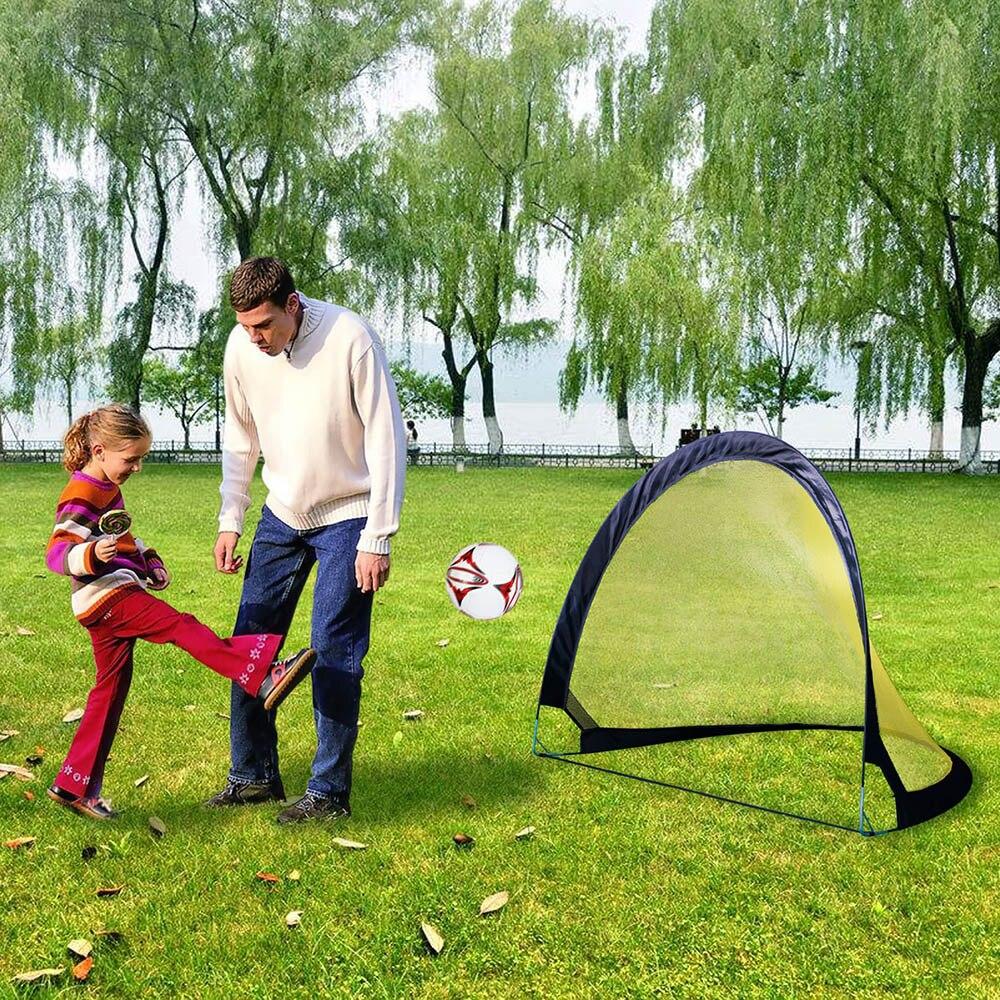2 pièces/ensemble Pop Up pliage buts de football pour les enfants Portable but de football fixe deux buts Durable but de football enfants cadeaux