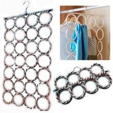 Вешалка для шарфов многоцветные шарфы дисплей висячие Галстуки ремень Организация круг держатель для хранения