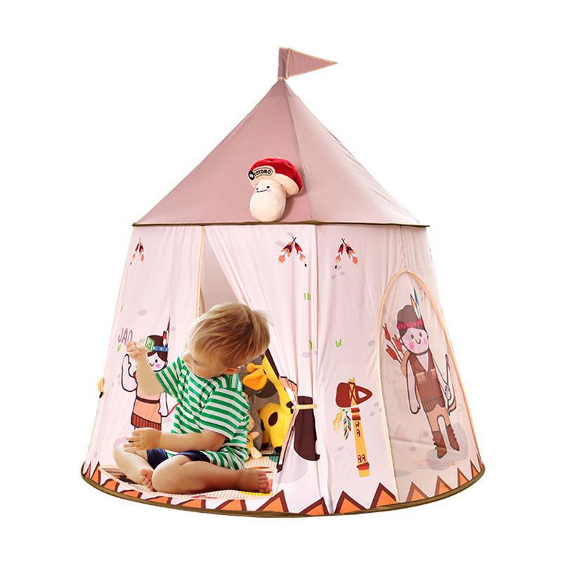 Enfants facile bâtiment sans fond tente intérieur bébé famille Indie jeu maison indien yourte tente drôle