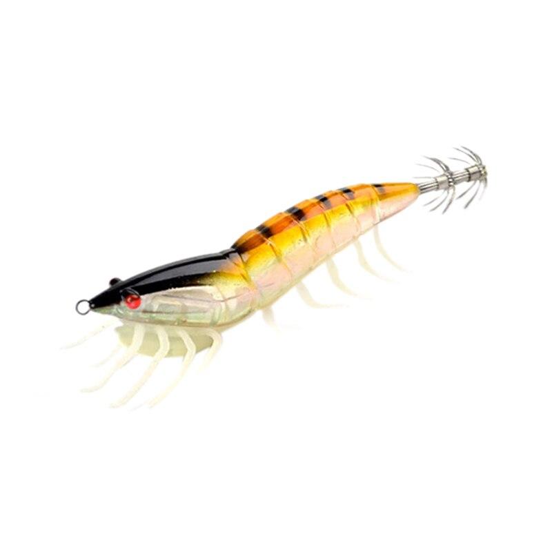 2019 Mode Holz Garnelen Harten Kunststoff Tintenfisch Locken Jigs Für Tintenfisch 115mm 20g 1 Teile/los Künstliche Tintenfisch Jigging Köder 1 #