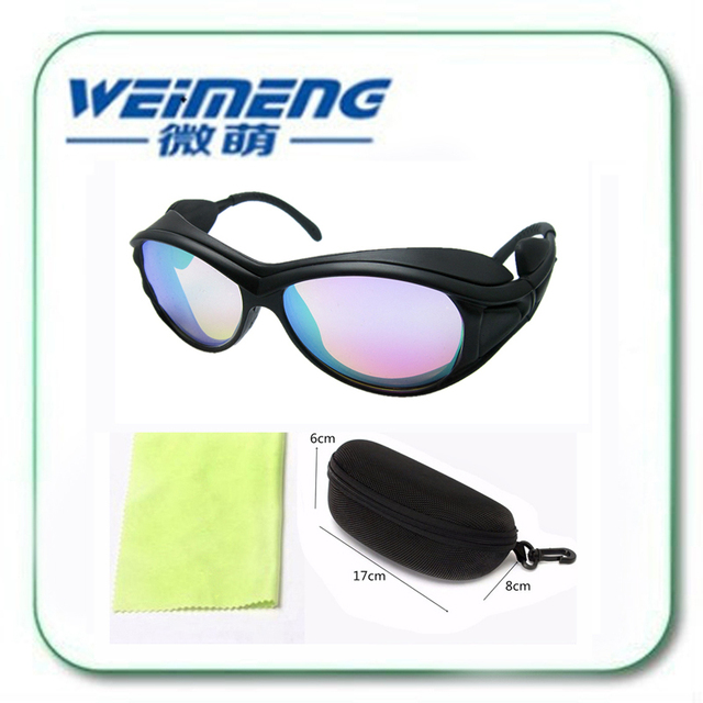 Weimeng brand 532nm laser protective glasses 500nm-560nm OD6+ safety reflective goggles eyebrow & tattoo washer YAG green laser
