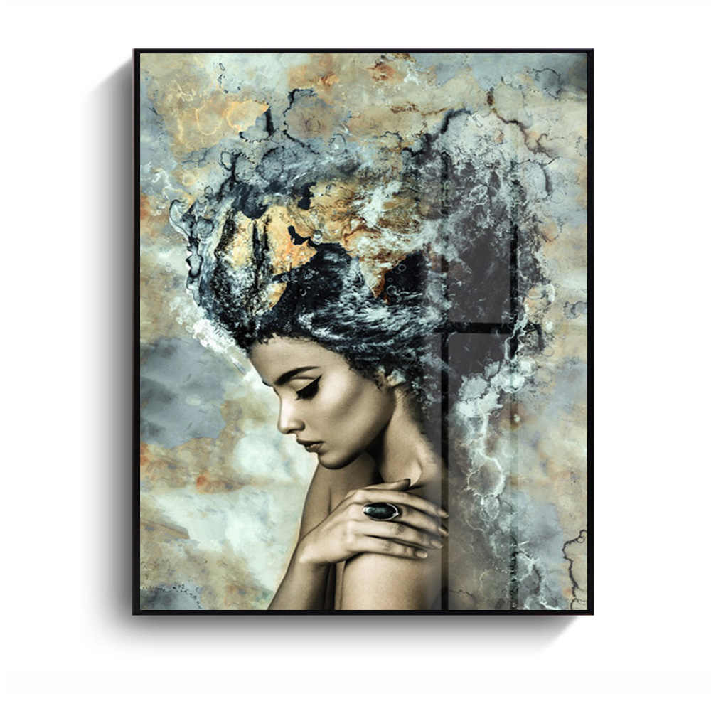Unframed Modern Art Oil Painting Print Canvas Picture Home Wall Room Decor Modern Marble Girl Print Wall Art