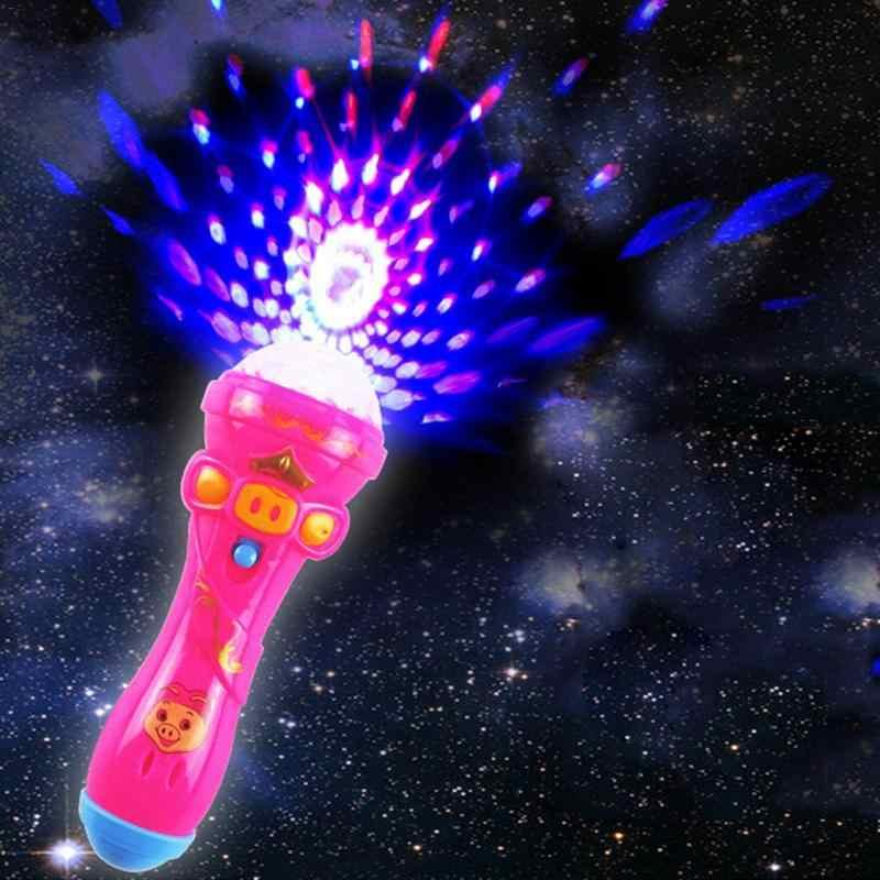 Новый детский фонарик ночник мини-светящиеся игрушки Дети фонарик история книга спящий проекционная лампа
