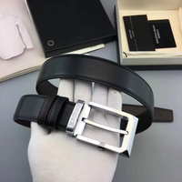 Male Brand Cowhide belt Apparel Sewing Fabric Genuine Leather