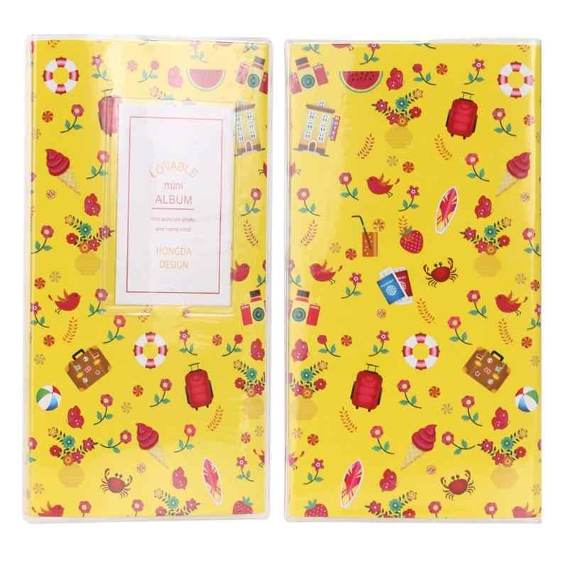 Mini futerał do przechowywania albumów 84 kieszenie cukierki kolor zdjęcie okładka fuji instax moda wspomnienia zachowaj pojemnik prezent przyjaciel pamiątka