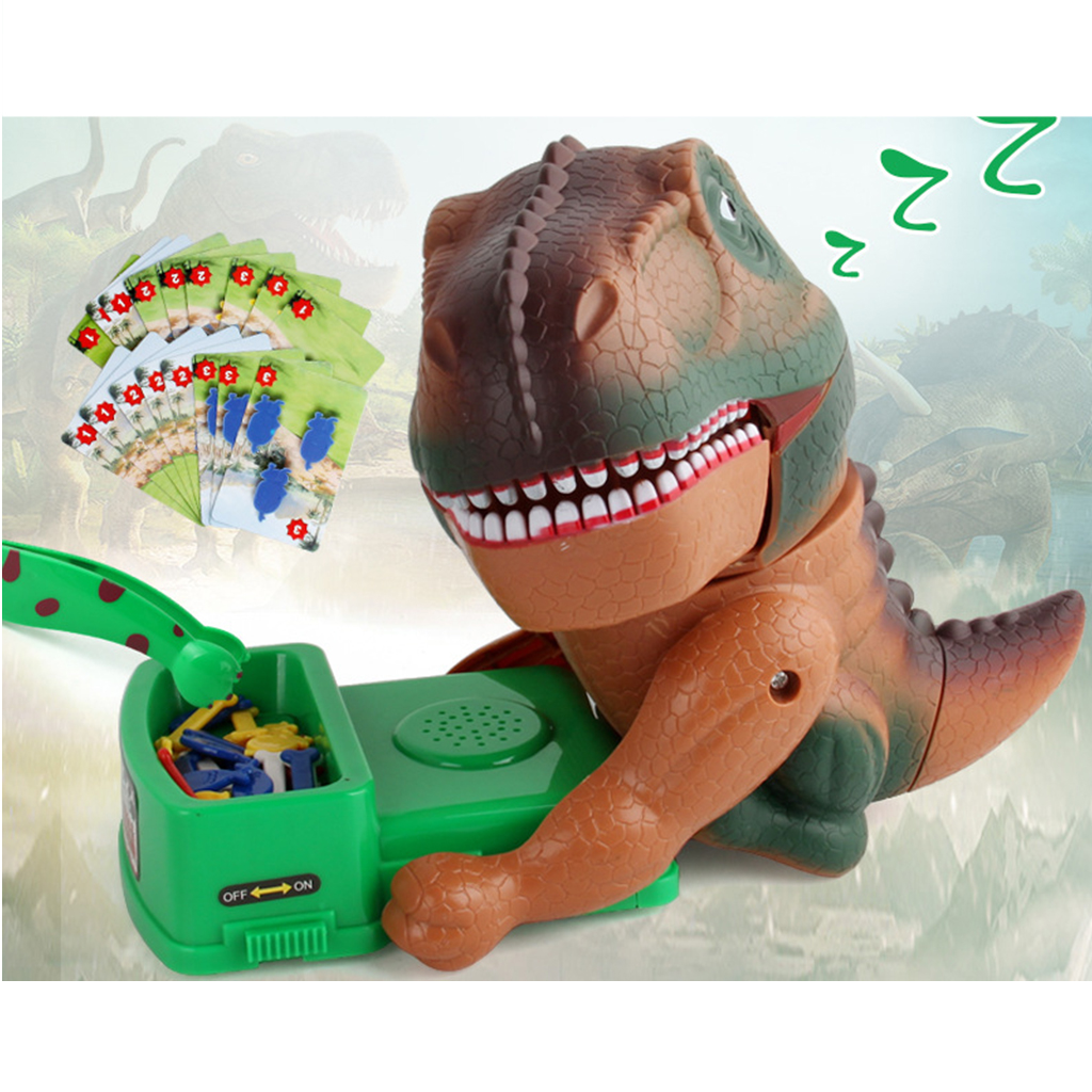 Electric Dinosaur Fighting For Foods Game Kid Robotic Animal Toy With Roar Sound & Action Figure Model