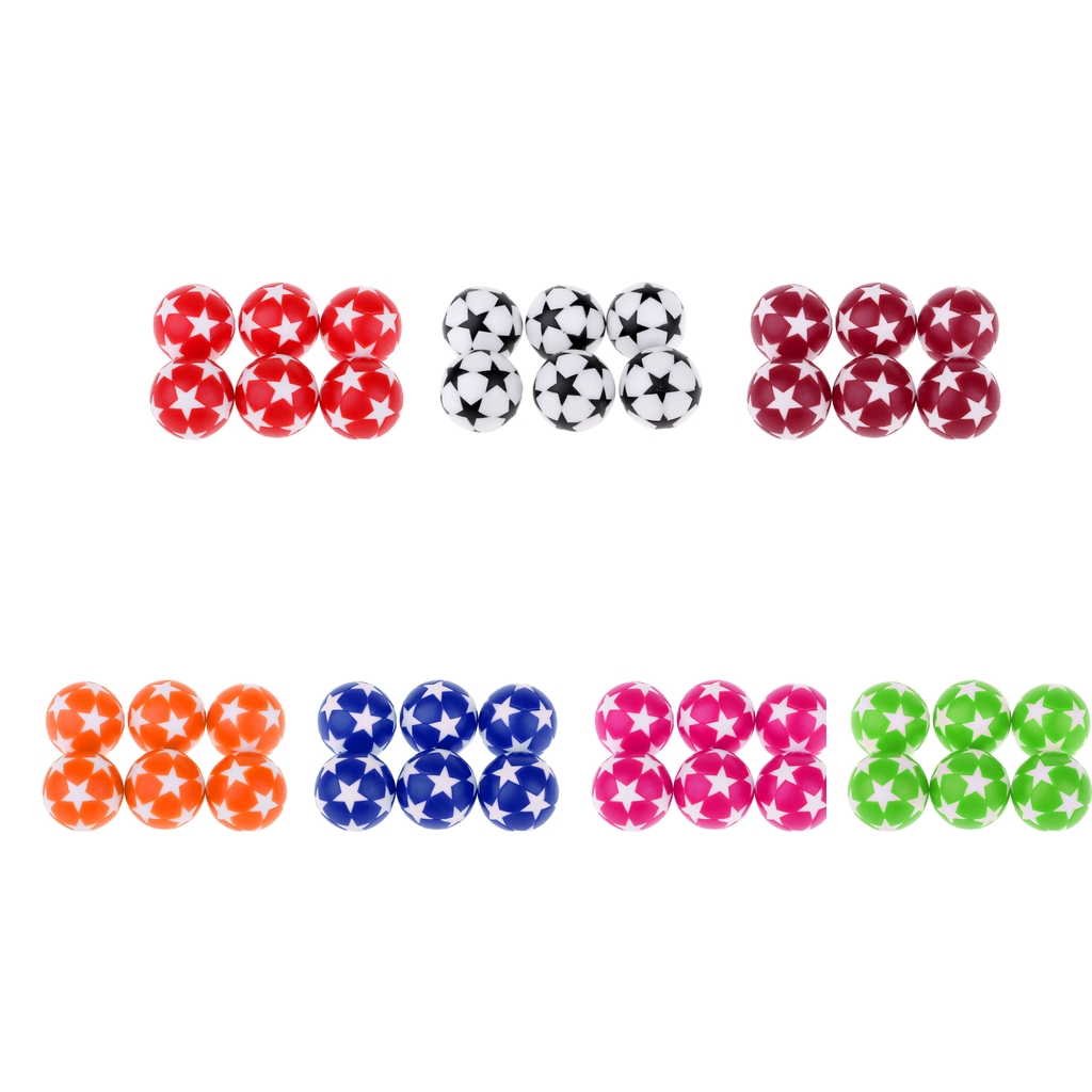 6Pcs 32mm Plastic Table Soccer Ball Football Foosball Fussball Replacement Balls Entertainment Board Game Accessories Durable image