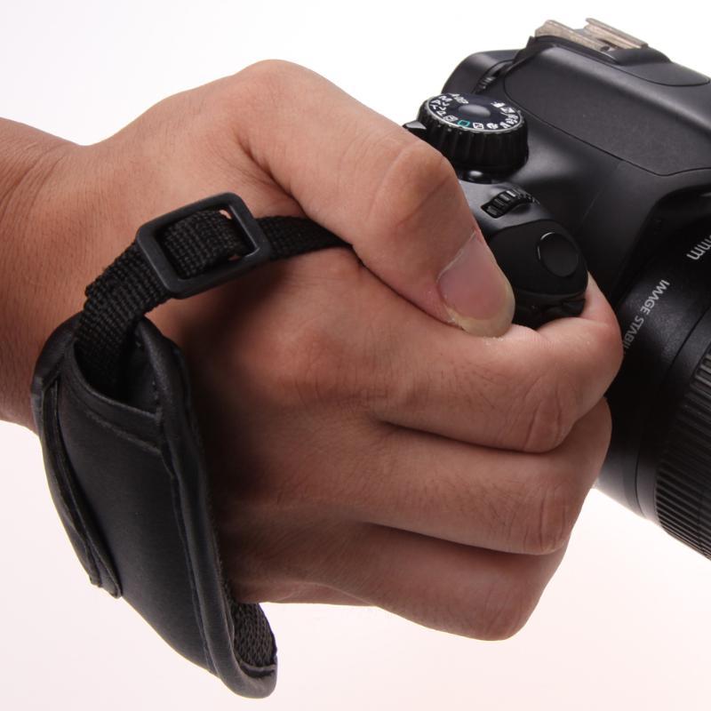 Cámara Mano Agarre Para Canon EOS Nikon Sony Olympus SLR//DSLR de cuero correa de muñeca