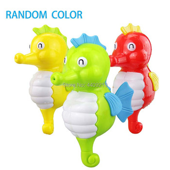 Cute Cartoon Animal Tortoise Hippocampus Classic Baby Water Toy Infant Swim Turtle Wound-up Chain Clockwork Kids Beach Bath Toys 5