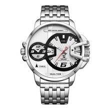 WEIDE relojes para hombre, Correa militar deportiva, reloj analógico de cuarzo con movimiento de esfera blanca, resistente al agua, Masculino