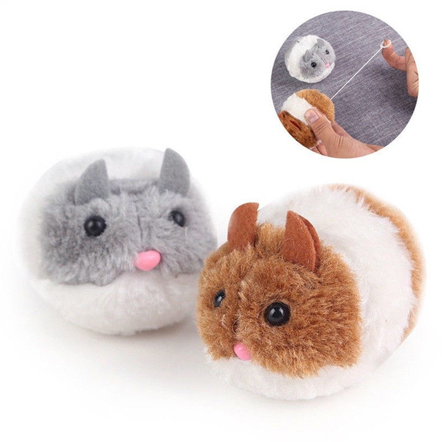 cute cat toy plush fur toy shake movement mouse