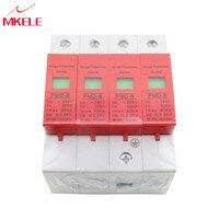 SPD 4P 30KA~60KA ~420VAC Circuit Breakers Surge Protector House Protective Low voltage Arrester Device