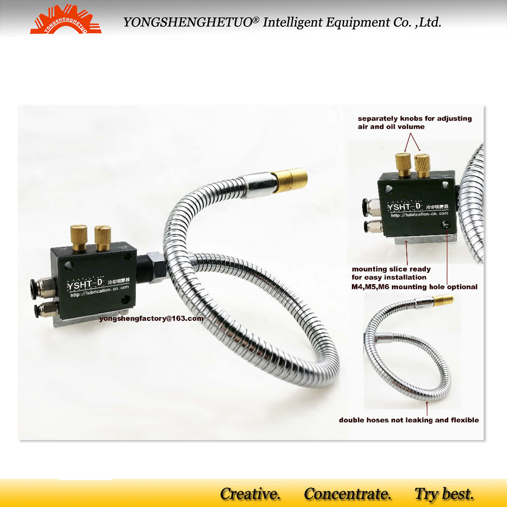 Flexible Metal Outer Hose Cutter Cooling//Oil Mist Coolant Sprayer for CNC Router