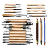Stainless Steel Pottery Ceramics Scrapbooking Clay Sculpting Tool Modeling Clay Tools Multifunctional Combination Set