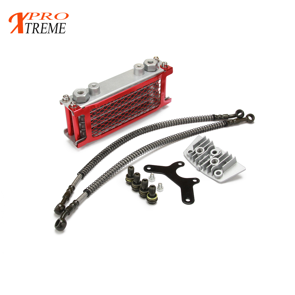 50cc <font><b>70cc</b></font> 90cc 110cc 125cc 140cc 150cc refires off-road motorcycle oil cooler radiator dirt pit atv For zongshen <font><b>lifan</b></font> monkey image
