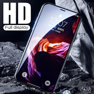 Image 4 - YOYIC 9D 炭素繊維フレーム Iphone 6 7 8 プラススクリーンプロテクター強化 iphone に × XS XR Xs 最大ガラス