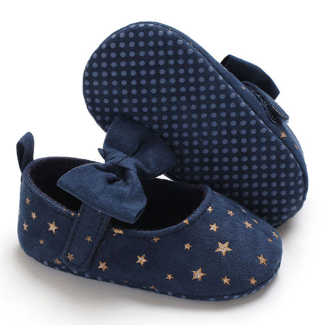2019 New Autumn Fashion Infant Toddler Newborn Baby Girls Shoes Bow Printing Soft Crib Anti-slip Princess Shoes For Party 5
