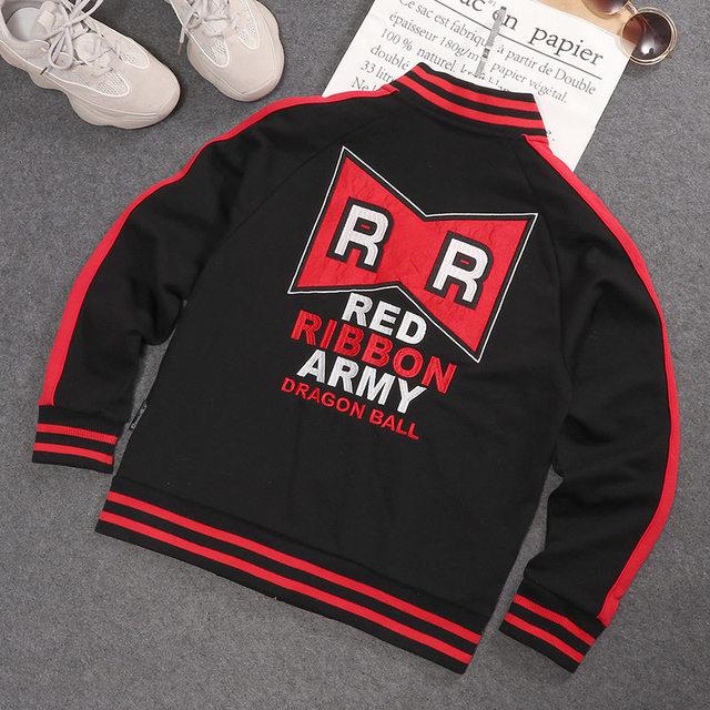 Dragon Ball Anime Red Ribbon Baseball Jacket DBZ  RR Army