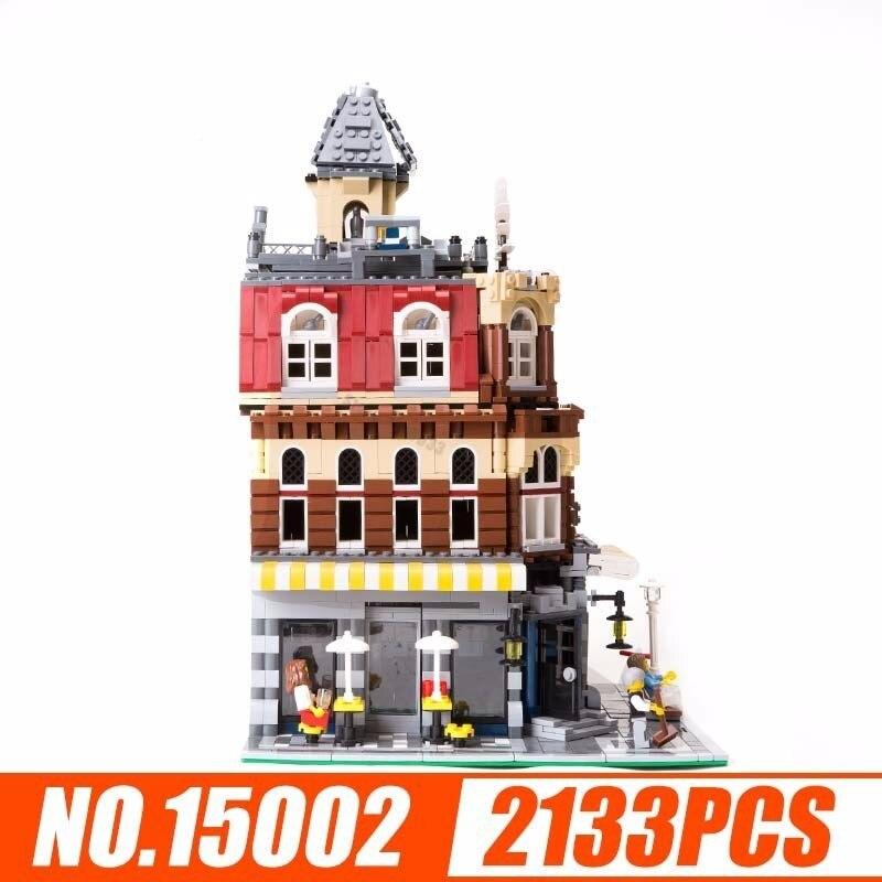 Lepin 15002 Streetscape série coin café magasin assemblage orthographe insérer blocs construction en plastique enfants jouets 2133 pièces