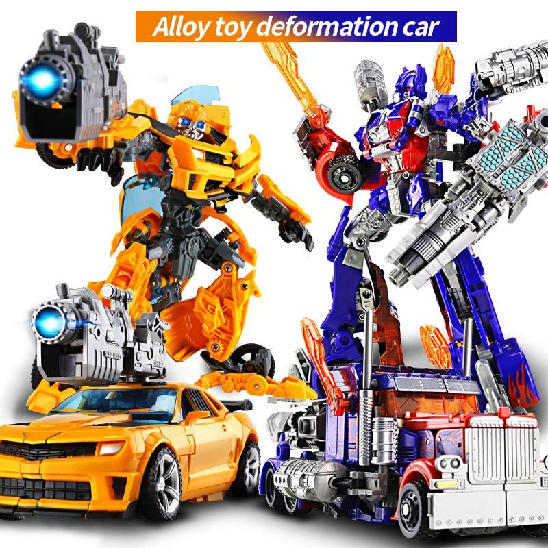 Anime Super Transformation Robot Car 20 cm Metal Alloy Deformation action figure Model Boy birthday gift toys