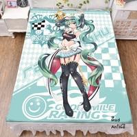 Japanese Anime RACING MIKU GOODSMILE Bed sheets cartoon bedsheets cute anime bedding Summer Quilt Bedding drop shipping