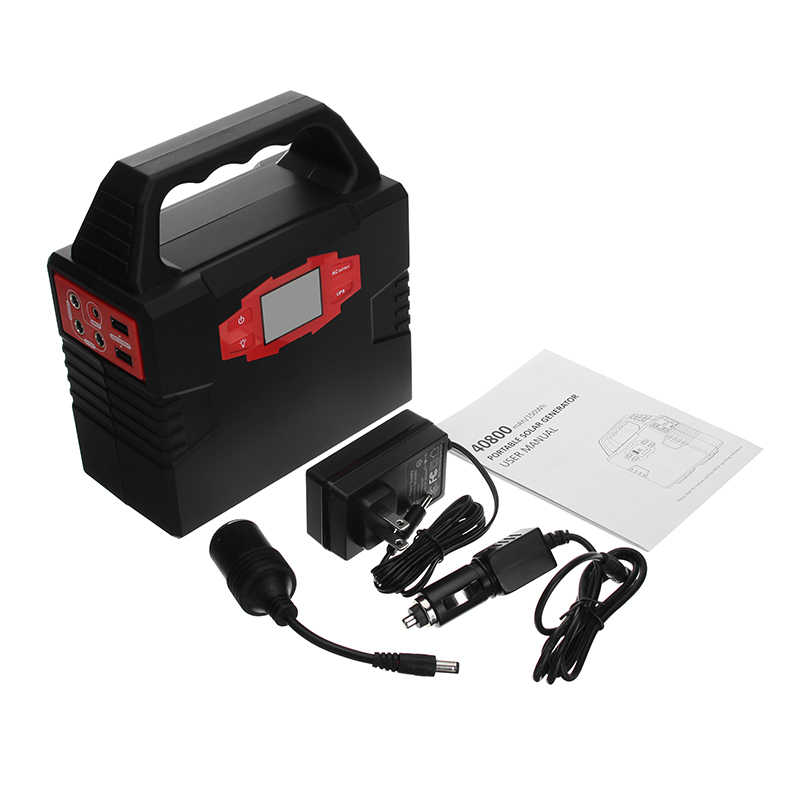 40800 MAh 110/220V 150W Up Lithium Darurat Solar Power Supply Modified Sine Wave LED Display Portable mobil Emergency Power Bank