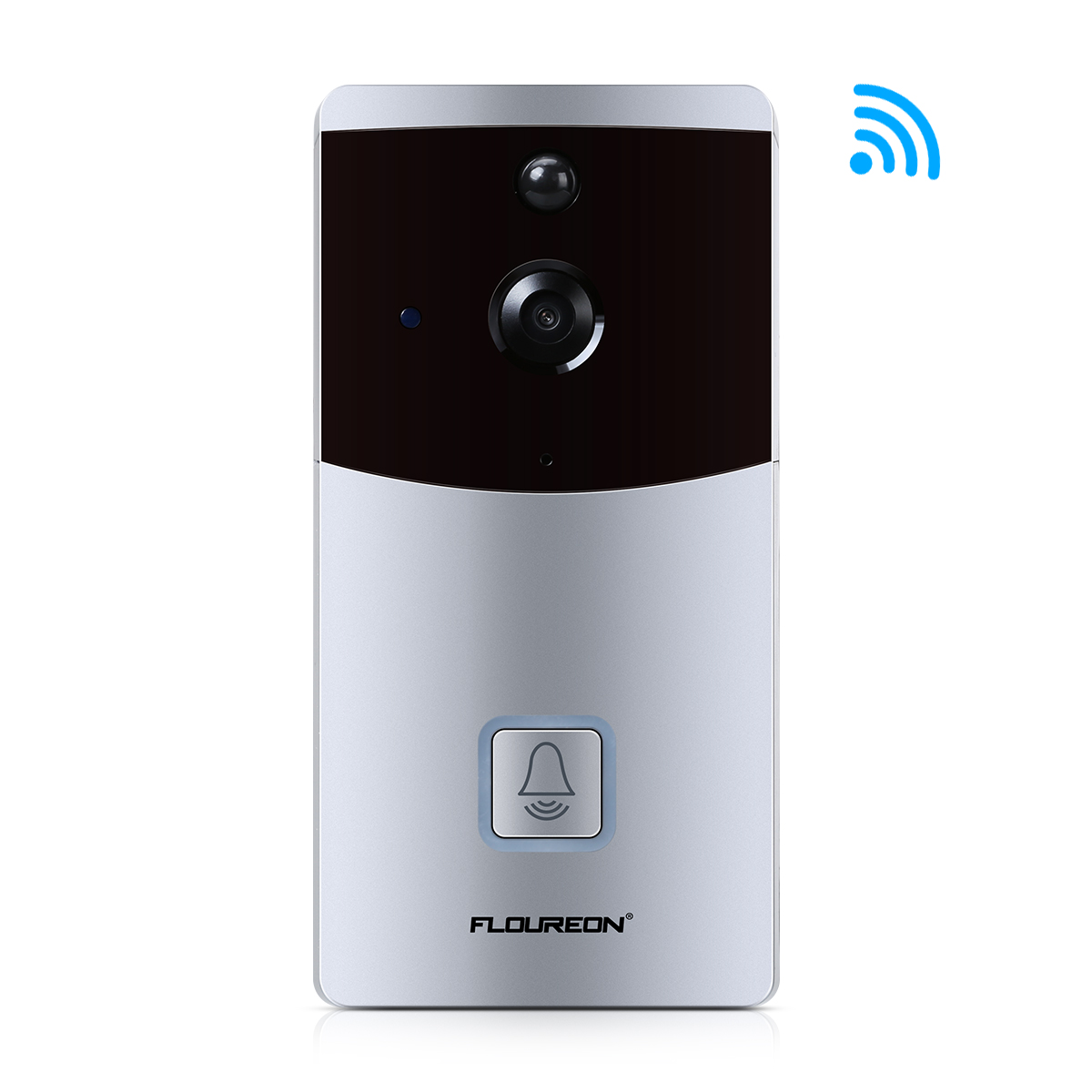 FLOUREON WIFI Smart Video Doorbell Security Camera SD slot 2-Way Talk Night Vision Motion DetectionFLOUREON WIFI Smart Video Doorbell Security Camera SD slot 2-Way Talk Night Vision Motion Detection