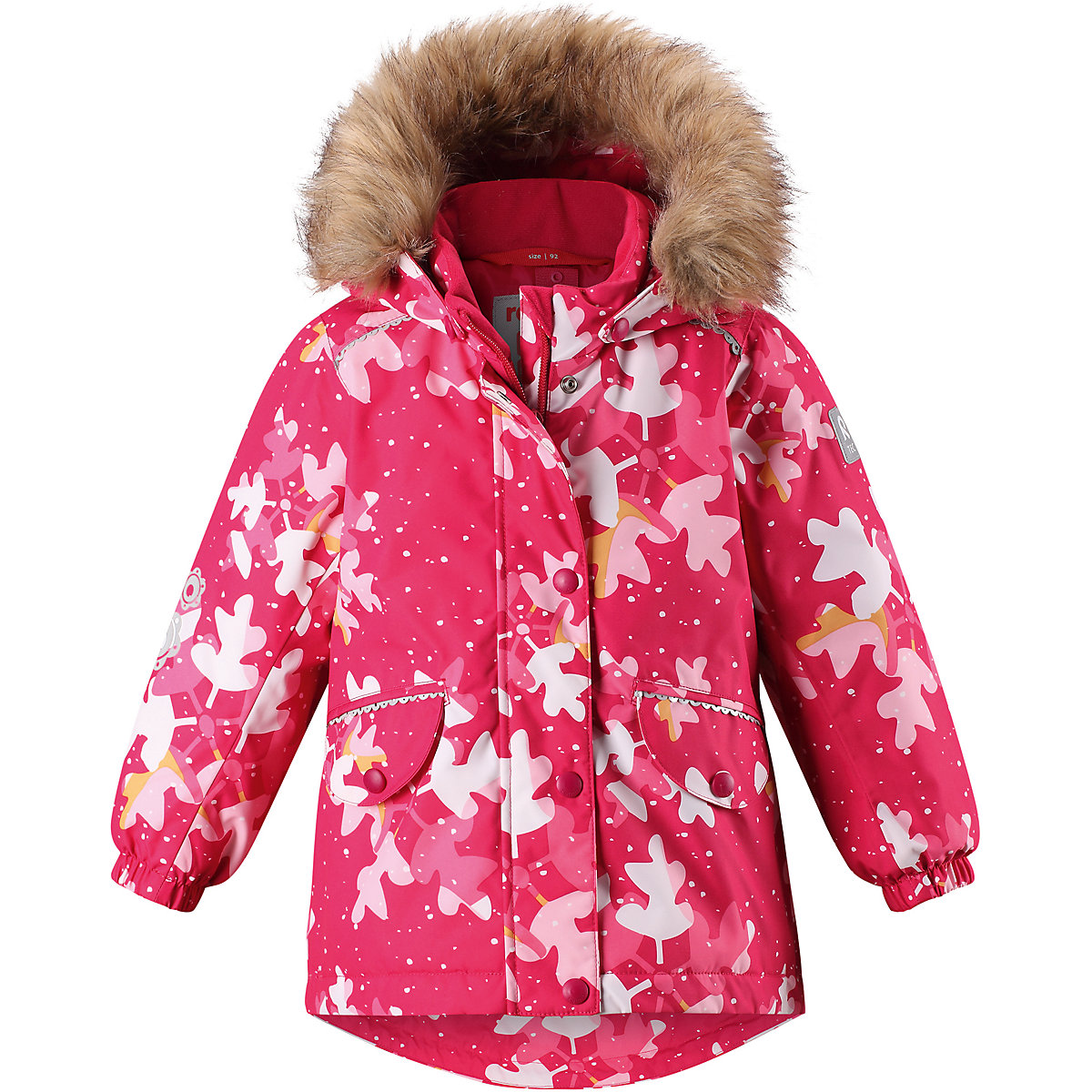 REIMA Jackets 8665245 For girls Polyester  winter fur baby clothing girl Jacket santic mc07004v outdoor cycling windproof sunproof polyester jacket for men fluorescent green xl