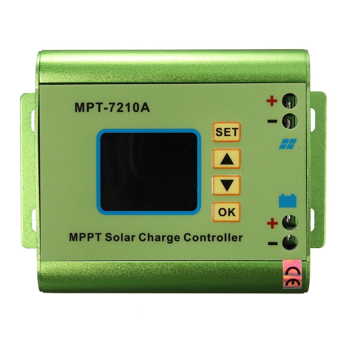 1Pcs LCD Display MPPT Solar Panel Charge Controller 24/36/48/60/72V Aluminum Alloy Solar Battery Regulatir Controller 24 36 48 60 72v lcd display mpt 7210a mppt solar panel charge controller boost solar battery regulatir controller