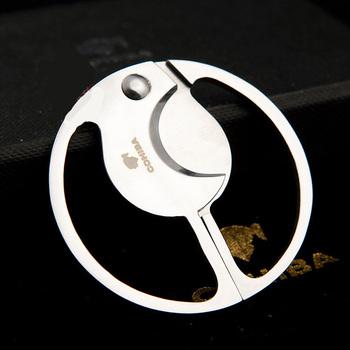 COHIBA okrągłe podwójne ostrza cygaro Cutter gadżety kieszonkowe ze stali nierdzewnej Zigarre papieros nóż kubański palenie gilotyna narzędzie 793 tanie i dobre opinie Stainless Steel FLAME LOVER