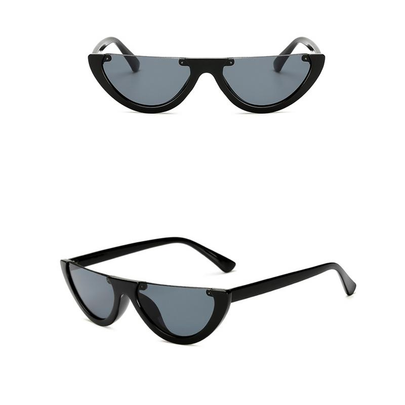 2019 NEW <font><b>Cute</b></font> <font><b>Sexy</b></font> <font><b>Retro</b></font> <font><b>Cat</b></font> <font><b>Eye</b></font> <font><b>Sunglasses</b></font> Women Small semicircle Vintage Designer Sun Glasses Fashion Eyewear image