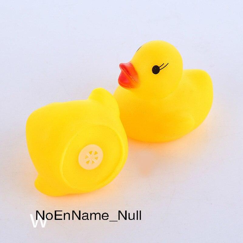 Nouveau AC0200017 200 Pcs/lot flottant canards en caoutchouc grinçant enfants jouets de bain pour enfants garçons filles eau piscine Fun