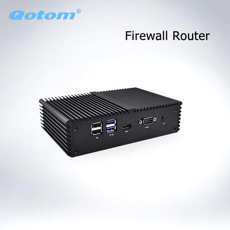 Бесплатная доставка Qotom appliance pfsense брандмауэр роутер Q370G4 Q375G4 Core i7 4500U 5500U AES-NI безвентиляторный 365/7/24 4 гигабитный NIC